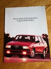 1988 ALFA ROMEO MILANO SALES BROCHURE, ORIGINAL ITEM NOT A RE-PRINT