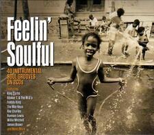 FEELIN' SOULFUL - 40 INSTRUMENTAL SOUL GROOVES -VARIOUS ARTISTS (NEW SEALED 2CD)