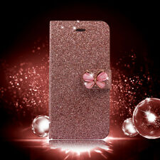 Shiny Glitter Magnetic Flip wallet Case Cover PU Leather for Apple iPhone 7