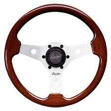 "CLASSIC VINTAGE WOODEN STEERING WHEEL 310mm 12.3"" LUISI MAHOGANY NARDI STYLE"