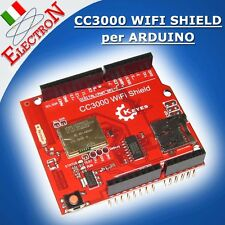CC3000 WIFI SHIELD PER ARDUINO UNO / MEGA R3 + SD SLOT - TEXAS SIMPLELINK CHIP