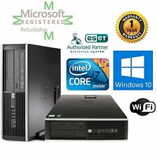 HP ELITE 8200  i7 3.40GHZ WINDOWS 10 Pro 16GB RAM120GB SSD DESKTOP COMPUTER Wifi