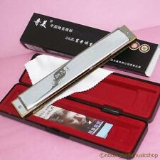 28 HOLE C TREMOLO CHINESE HARMONICA MOUTH ORGAN IN PLASTIC CASE WITH CLOTH ETC