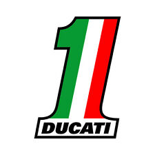 Sticker NUMBER ONE Ducati Monster Strada Hypermotard - 11cm x 8cm