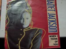 JANET JACKSON, WHEN I THINK OF YOU / COME GIVE YOUR LOVE TO ME. 1986 A&M SINGLE