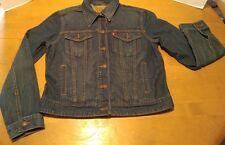 Levi's Women's Jean Jacket Large Blue Denim Cotton Spandex Blend