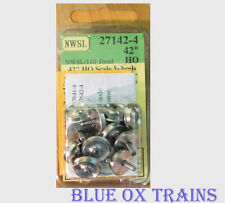 "NWSL 27142-4 Athearn 3/32"" Half-Axle 42"" Wheelsets HO Scale"