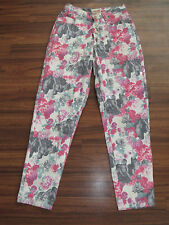 VTG 90's GELATI PINK FLORAL CHERUB BABY BUTTON FLY HIGH RISE MOM JEANS SZ 9