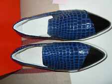 Finery London Shoes / Trainers Size 4 Navy RRP £75 Finery Elwood Luxury Slip On