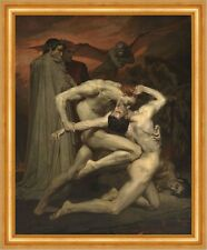 Dante and Virgile William Adolphe Bouguereau Kampf Inferno Nackt Mann B A3 03458
