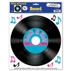Rock & Roll Record Cling - Peel and Place Sticker Decoration - 50's Decorations
