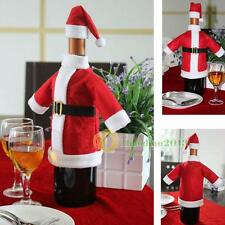 Christmas Xmas Santa Claus Wine Bottle Cover Decor Bag Dinner Party Table Decor