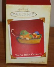 Hallmark YOU'VE BEEN CAUGHT! Christmas Ornament w/Box 2005 Cat Fishing in Boat