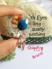 8 MIX Silver Golden RING Memory Locket Charm Wide Opening Bottle Ring Special