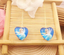 Hot  1 pair Frozen Princess Elsa Anna Earrings fashion Jewelry  Gifts K8 @
