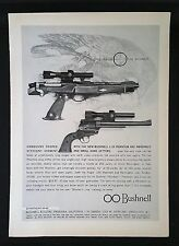 Vintage 1963 Bushnell 1.3x Phantom Hand Gun Scope Full-Page Ad