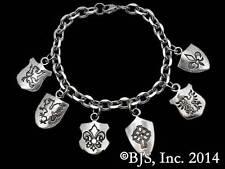 Harry Dresden's Shield Bracelet, Sterling Silver, Dresden Files Jewelry, Butcher