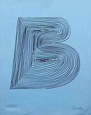 Mario Ceroli - litografia orig. Bolaffiarte del '72, numerata e firmata