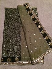 Bollywood Brand New Half Net & Half Velvet Work Saree