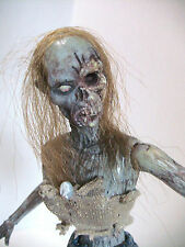 1/6 scale 12 '' one of a kind custom   walking  dead type female  zombie