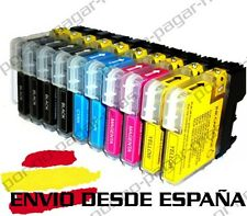 10 CARTUCHOS COMPATIBLES NonOem BROTHER LC985 DCP-J140W DCPJ140W