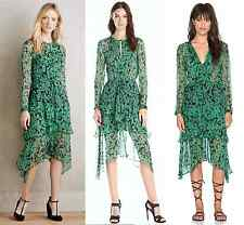 New $375 Anthropologie Cynthia Rowley Twelfth Street Meralda Silk Gypsy Dress L