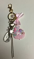 Sanrio My Melody die cut keychain ring w dangle beads purse bag clip on  New