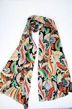 NWT RALPH LAUREN Scarf Silk Casual Business jAcKeT sUiT jAcKEt Paisley Long Blk