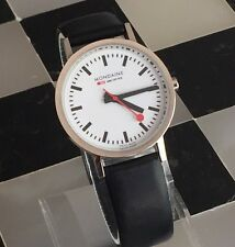 Mondaine Railway official Swiss SBB men's watch black leather band
