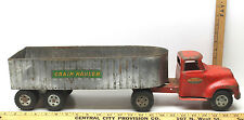 Tonka Toys Grain Hauler Vintage Pressed Steel Toy Truck Farm Semi Trailer Silage
