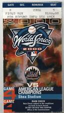2000 WORLD SERIES GAME 4 TICKET NY YANKEES DEREK JETER 1ST WS HR VERY RARE!