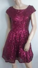 SEQUIN FORMAL GOWN SPEECHLESS SIZE 7 MEDIUM MED M BURGANDY WINE COLOR