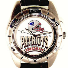 New England Patriots NFL, Fossil New Unworn Mens Vintage 1995 Leather Watch! $79