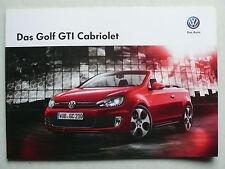 Prospekt Volkswagen VW Golf VI Cabriolet GTI, 5.2013, 16 Seiten