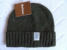 BARBOUR Whitfield OLIVE WOOL BEANIE Hat Toque UNISEX Designed in South Shields