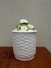Cookie Jar Lefton Cookie Jar Rustic Daisy With Label