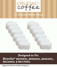 12 Breville Single Cup Coffee Brewer Charcoal Filters, Part # BWF100 White NEW