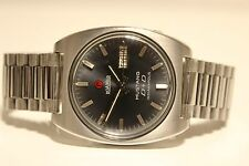 "VINTAGE RARE STEEL SWISS MEN'S AUTOMATIC WATCH""ROAMER""MUSTANG D+D INDIANAPOLIS"