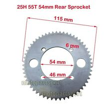 25H 55T 54mm Rear Chain Sprocket For Electric Scooter Razor E300 Compatible #25