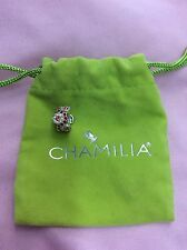Brand New Chamilia Red And Clear Swarovski Flower Bead