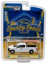 1:64 GreenLight *COUNTRY ROADS R14* White 2015 Ford F-150 Pickup w/Ladder Rack