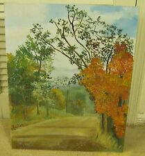 ART Oil On Board FALL LANDSCAPE Painting SIGNED J. G. MOBLEY Well Done EXCELLENT