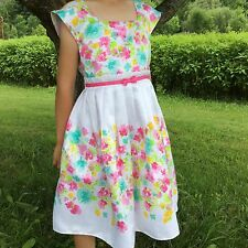New Jona Michelle Dress Girls Size 6 Multi-color Floral Wedding, Party, Holiday
