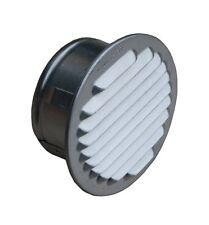 Lüftungsgitter Aluminium natur mit Stutzen DN 95-100 mm