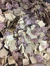 Thousands Of Lilac Penny Stamps Late 1800s Great Britain England Canceled