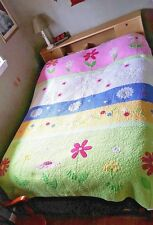 POTTERY BARN Sunburst Quilt Pastel Flowers Daisies TWIN Size Ship Weight 7 LBS