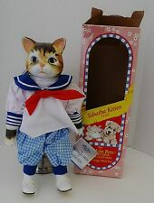 "Heritage Mint 14"" Porcelain Doll Tabatha Kitten Sailor Outfit original Tag + Box"