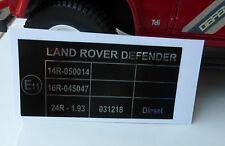 LAND Rover Defender 90 110 TDi Td5 Cintura di sicurezza fissa etichetta Decalcomania bac500820