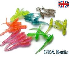 1 Pack (10) - 50mm Quality Mixed Colour Stinger Soft Silicone Tail Grubs