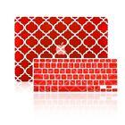 "Quatrefoil RED Hard Case + Keyboard Cover for Macbook Pro 13"" Model A1278"